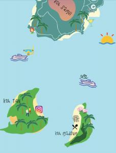 Pig Island Koh Samui Map